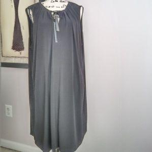 Michael Kors black dress with tassels